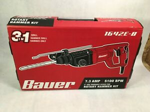 Bauer 1 Sds Variable Speed Rotary Hammer Kit 7 3a 5100bpm 1642e b Ps