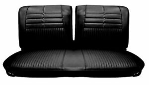 1964 Impala Standard Split Bench Seat Upholstery By Distinctive Ind In Black