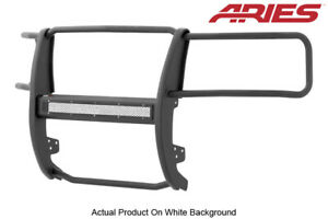 07 13 Silverado 1500 Black Textured Front Grille Brush Guard Aries Pro Series