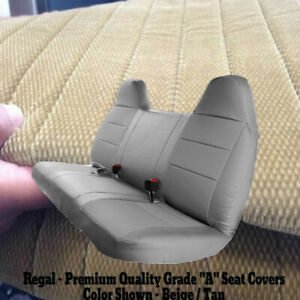 Beige Tan Front Bench Seat Cover Molded Headrest F Series Automotive Thick