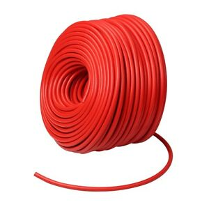 Red 0 4 10mm Vacuum Silicone Hose Intercooler Coupler Pipe Turbo 100 Feet