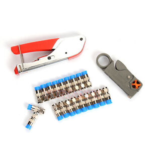 Rg59 rg6 Coaxial Cable Crimping Plier Cable Cutter Coax Network Cable Tools Cctv