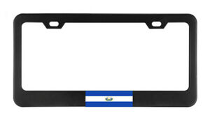 El Salvador Flag Country American Flags License Plate Frame Tag Holder Bumper