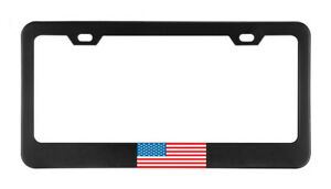 Usa United States America Flag Country License Plate Frame Tag Holder Bumper