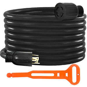 Generator Extension Cord 25ft 10 4 Power Cable 30 Amp Adapter Plug Copper Wire