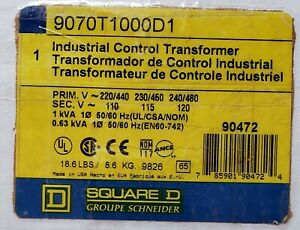 9070t1000d1 Square D Industrial Control Transformer