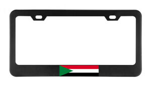 Sudan Flag Country American Flags Foreign License Plate Frame Tag Holder Bumper