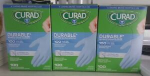 Curad Nitrile Disp Exam Gloves Lot Of 8 durable chemical Resistant p Free