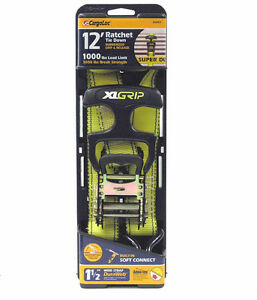 2pc 1 1 2 By 12ft Ratchet Tie Down Strap Hd Tow Ratcheting X large T handle