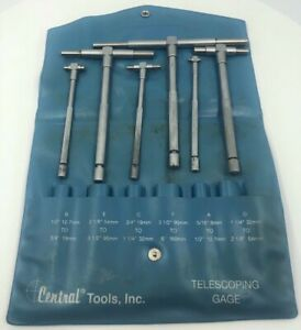 Central Tools 6554 6 Piece Telescoping Gauge Set Free Shipping