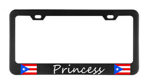 Princess Puerto Rico License Plate Frame Tag Holder Bumper