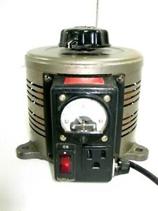Tenma Model 72 110 Variable Auto Transformer w Built In Amp Tested Works