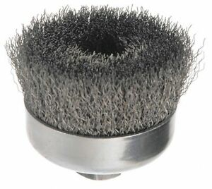 Weiler 4 Crimped Wire Cup Brush Arbor Hole Mounting 0 014 Wire Dia 1 3 8