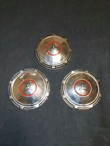 Vintage 1969 74 Dodge Hemi Redline Dog Dish Poverty Hubcaps Wheel Covers