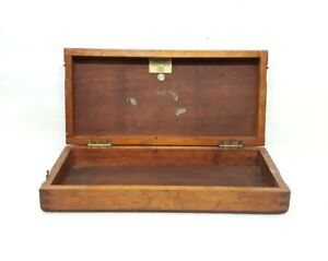 Antique Vintage Wooden Case Medical Tool Kit Box Genito Urinary Made In England
