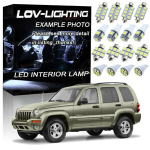 For 2004 2005 2006 2007 Jeep Liberty Led Lights Interior Package Kit White 10x