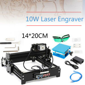 10w Laser Engraver Adjustable Laser Power Cutting Marking Carving Machine Usb Us