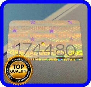 500 Pcs Hologram Labels With Serial Numbers Warranty Stickers Seals 63 X 39