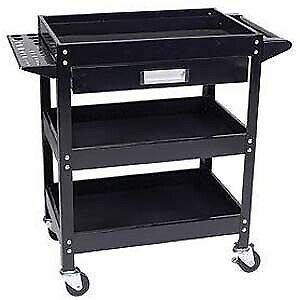 Wilmar W54006 Service Cart With Tool Holder Bins And Drawer