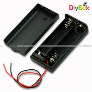2a 2 Aa Battery Holder Box Case With On off Switch And Cover For 2aa Battery