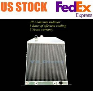 1946 1947 1948 Ford Coupe W chevy V8 Engine Swap 3 Row Aluminum Radiator 19 x19