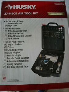 Store returnliquidation Husky 27 Piece Air Tool Kit 1003 09 318