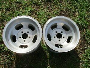 15 X 8 5 Us Indy Slotted Mag Wheels Old School 5x4 75 Slot Vintage Chevy 5 Lug
