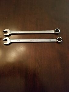 Snap On 1 2 6pt 12pt Combination Wrenchs Lot Of 2