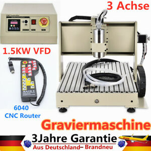 3 Axis 1500w Cnc 6040 Router Engraver Engraving Milling Drilling Machine Control