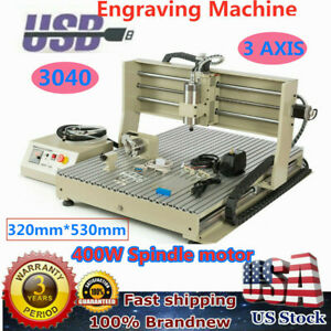 Cnc 3040 Router Engraver 3 Axis Engraving Milling Machine 400w 3d Cut Carve Usb