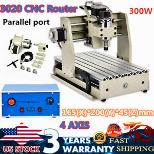 Cnc 3020 Router Engraver Drilling Milling Machine 4 Axis Engraving Cutting 2019
