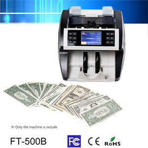 Bank Bill Counter Money Mixed Value Counting Counterfeit Detector Uv Mg Ir U3w5
