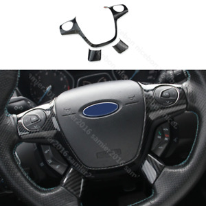 3pc Carbon Fiber Color Steering Wheel Cover Fit For Ford Focus Escape Kuga C max
