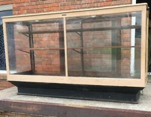 Vintage Antique Wood And Glass Store Display Case 72 X42 X24 Great Old Paint