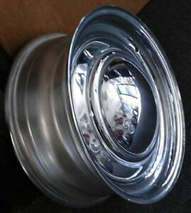 15x6 Chrome Smoothie Wheel With Cap 5x4 5 5x4 75 Dual Drill Standard Offset