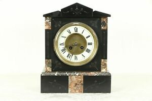 French Antique 1880 Classical Marble Mantel Clock 31102