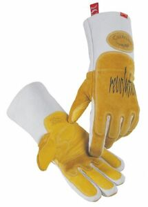 Caiman Welding Gloves Mig stick 13 1 2 L Pr Gold gray 1812 5 1 Each