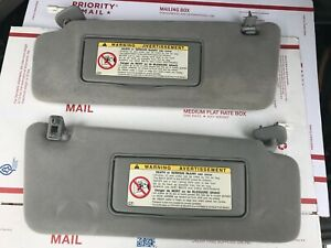 1999 2003 Lexus Rx300 Oem Gray Left right Pair Sun Visors W clips