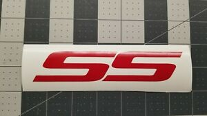 For Chevy Ss Decal Emblem Sticker Car Truck 2pk Free Ship Red Custom