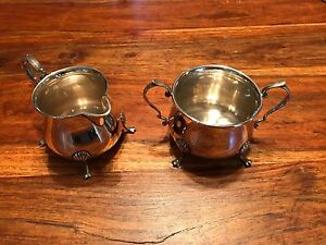 T2 Vintage Revere Silversmiths Solid Sterling Cream And Sugar Bowls 1051