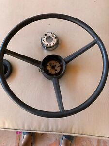 1970 A B Body Black Steering Wheel Mopar Dodge Plymouth 2996715 With Horn Ring