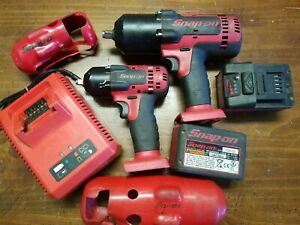 Snap On Cordless Impacts 1 2 3 8 Ct8850 Ct8810a 2 Batteries Charger Boots
