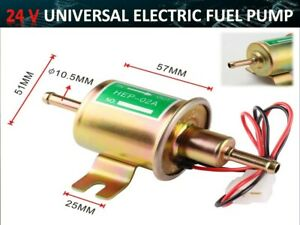 24v Electric Petrol Diesel Fuel Pump Facet Cylinder Style Tractor Boat
