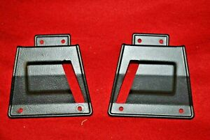 67 Mustang Fastback Non Fold Down Seat Latch Covers Pair Orig Ford Very Nice