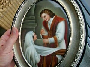 Antique Kpm Porcelain Plaque Hutschenreuther