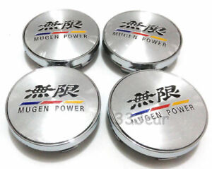 Brand New 60mm Mugen Power Wheel Center Caps Cover Fit Accord Civic City Crx Crv