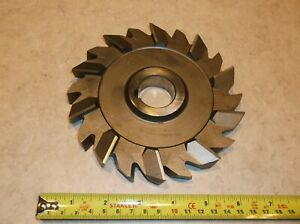 Brown Sharpe 6 X 3 4 X 1 1 4 Side Mill Cutter 20 Staggered Teeth