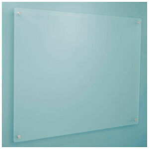 48 X 36 Frosted Glass Dry Erase Board With Markers And Eraser Lot Of 1