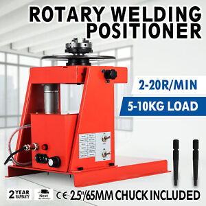 110v Rotary Welding Positioner Turntable Mini 0 90 2 5 3 Jaws Efficient