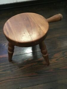 Vintage Country Amish Wooden Milking Stool